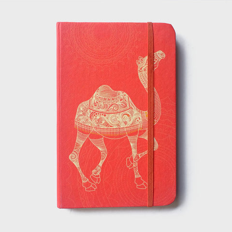 Camel Red Rubberband Noteboook