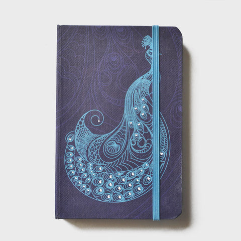 Peacock Purple Rubberband Noteboook