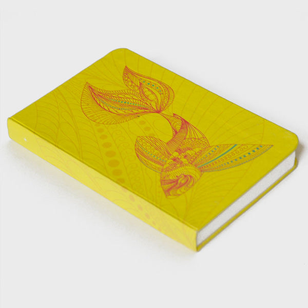 Fish Yellow Rubberband Noteboook