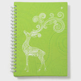 Deer Green Wiro Notebook