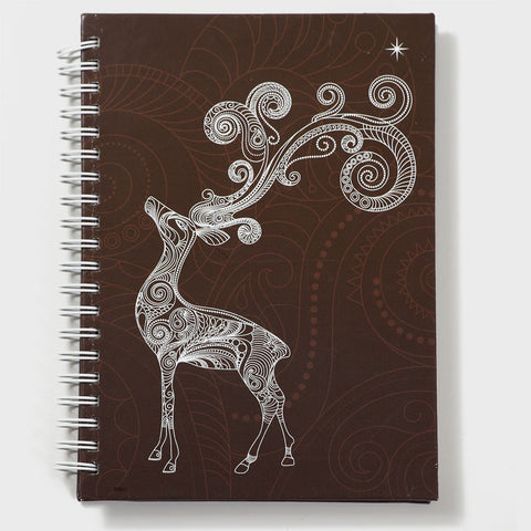 Deer Brown Wiro Notebook
