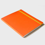 Orange Rubberband Notebooks