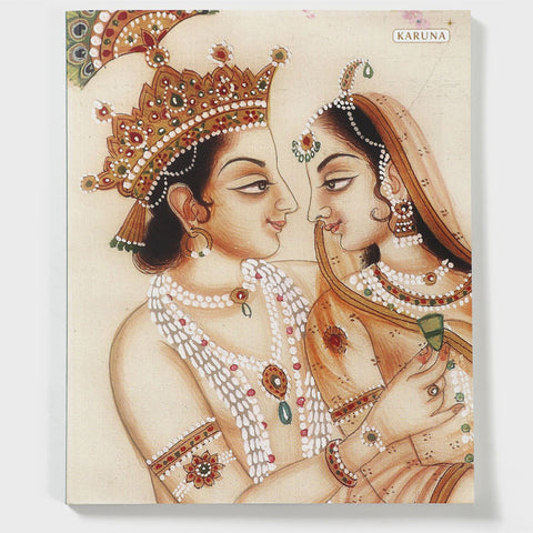 Radha Krishna Gold Notebook