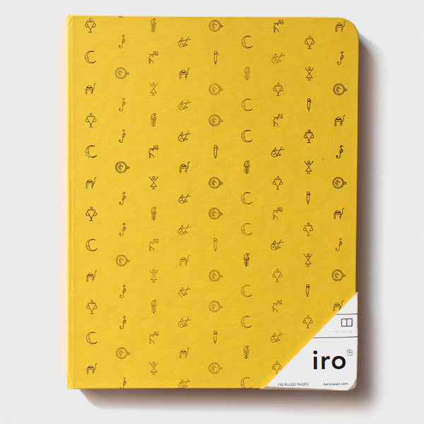 "Yellow Iro Notebook (7x9"")"