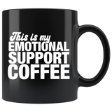 Emotional Support Coffee Mug Black