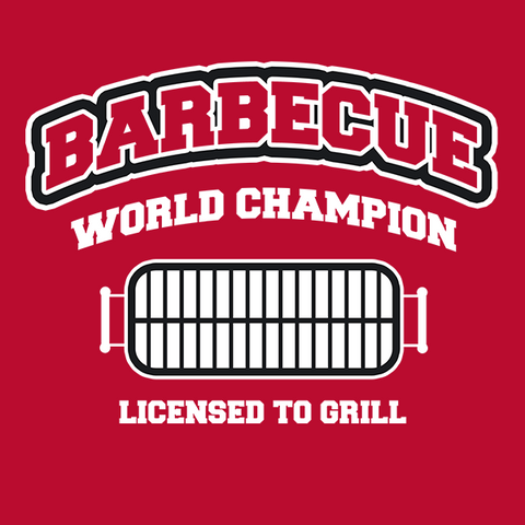BBQ Barbecue Grill World Champ T-Shirt