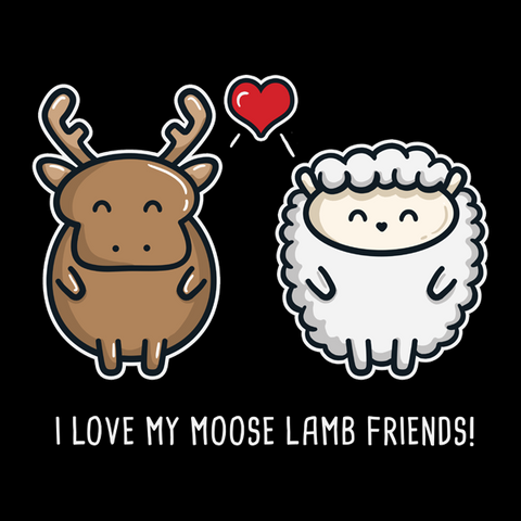 Moose Lamb Friends T-Shirt