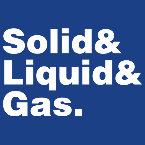 Solid Liquid Gas Helvetica T-Shirt