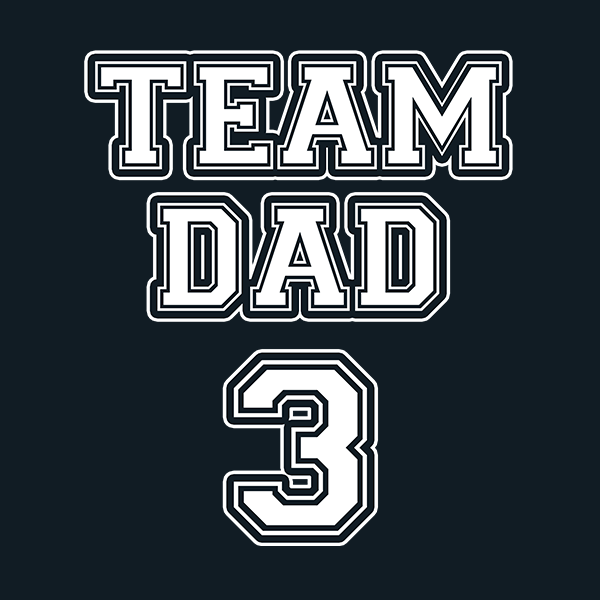 Team Dad T-Shirt PERSONALIZED WITH YOUR NUMBER