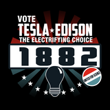 Tesla Edison United for Science T-Shirt