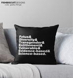 Banned Words Pillow Cover