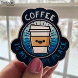 Coffee is My Happy Place Sticker