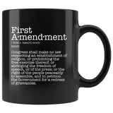 First Amendment Mug Black