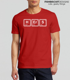 Hers Periodic Table Couples T Shirt