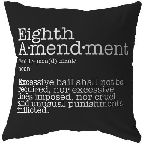 Eighth Amendment Pillow