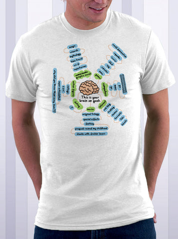 Geek Brain Mind Map T-Shirt