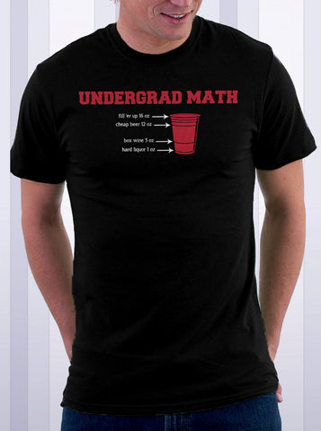 Undergrad Math Beer Pong T-Shirt