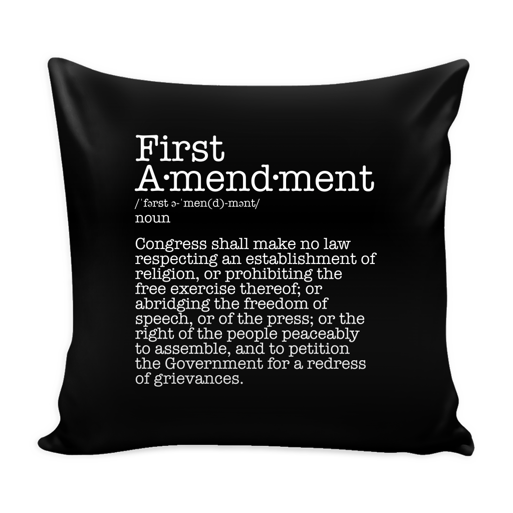 First Amendment Pillow Cover