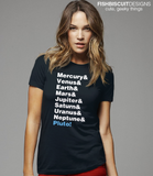 Planets Helvetica T-Shirt