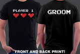 Bride Groom Player 1 Player 2 Couples T-shirts