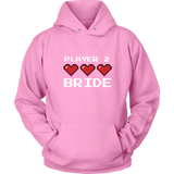 Player 2 Bride Two Sided Hoodie