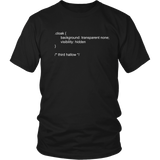 Wizard Invisibility Cloak CSS Code T-Shirt