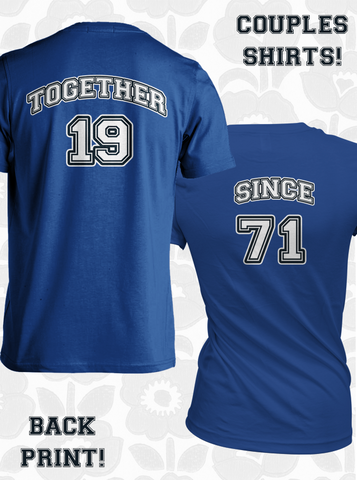 Together Since Couple T-Shirts TWO PERSONALIZED SHIRTS