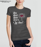 Who What When Where Wine White