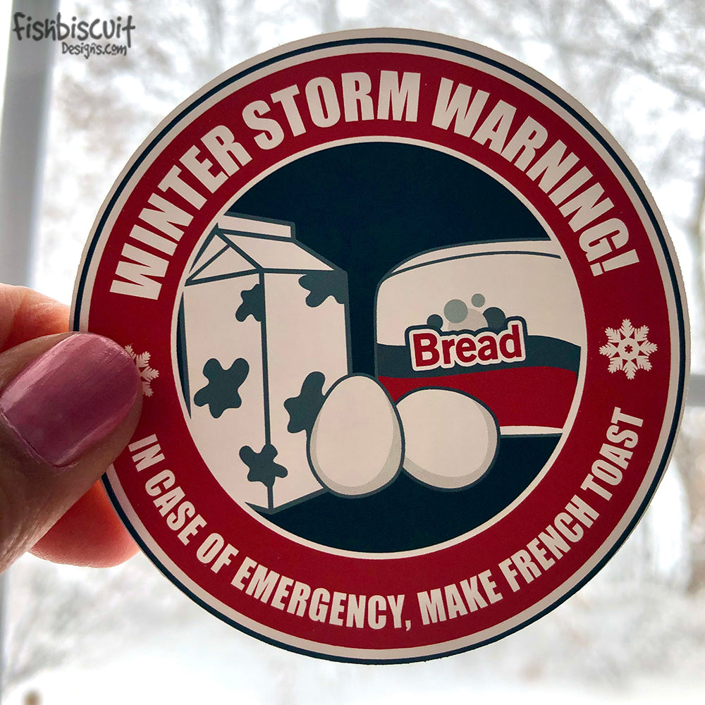Winter Storm Warning Sticker