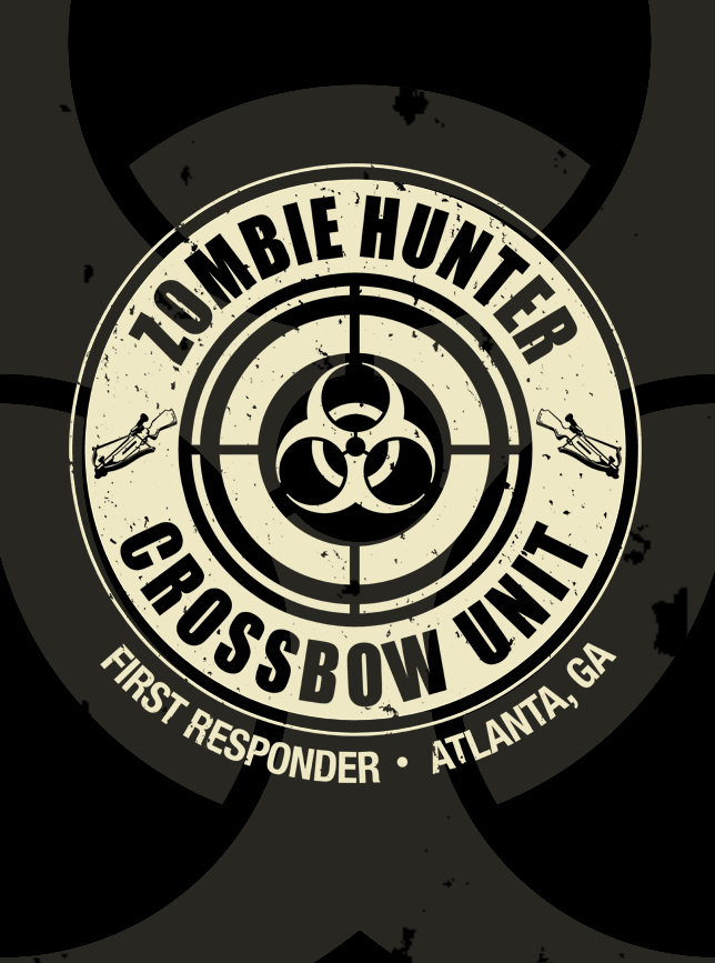 Zombie Hunter TWO SIDED T-Shirt