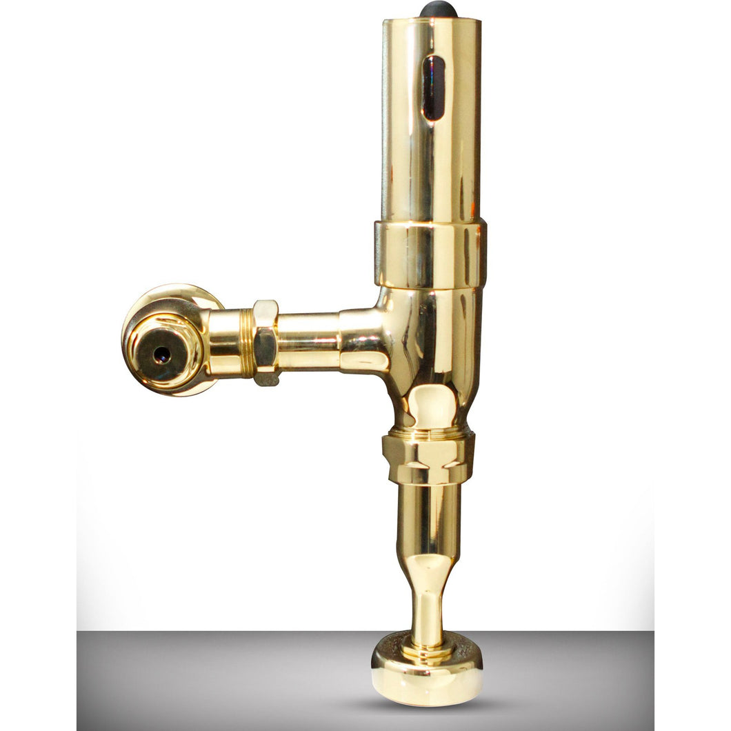 AUV-2 Automatic Electronic Hands Free URINAL Flush Valve, Polished Brass Finish