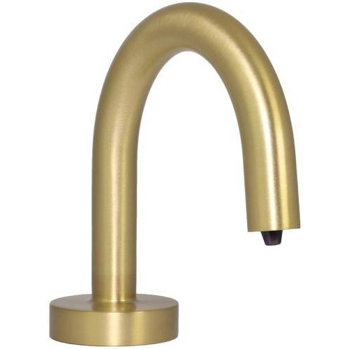 Hands free deck mounted soap dispenser in Satin Brass Finish PYOS-1100