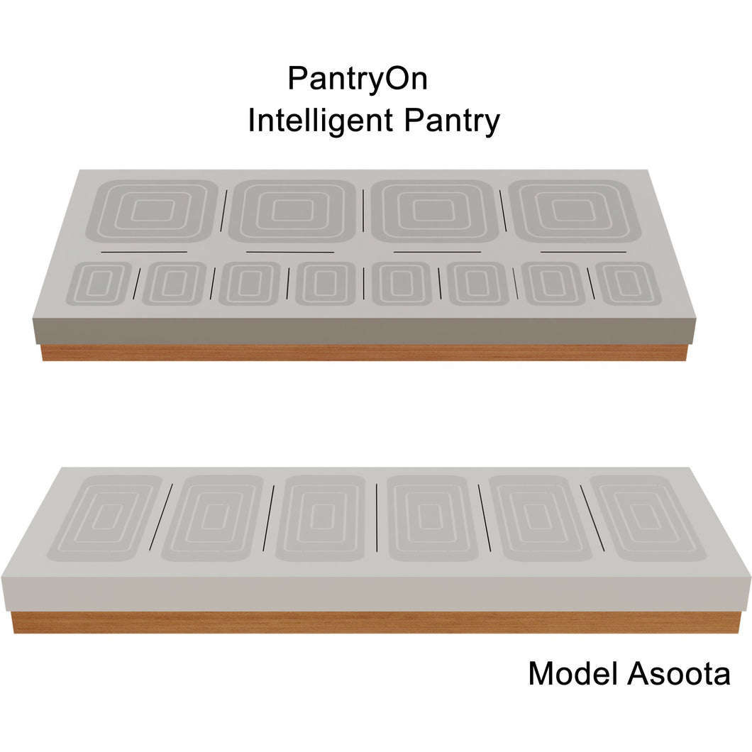 Intelligent Pantry Appliance. Asoota Suite. 18 Items managed