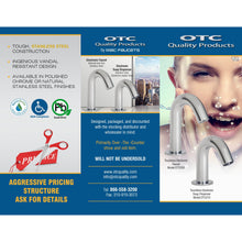 Load image into Gallery viewer, Lowest price electronic faucet in the USA that is made of Stainless Steel material OTC200-E