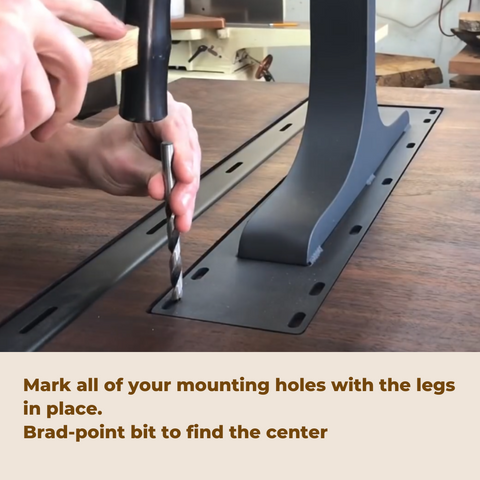 how to attach metal legs