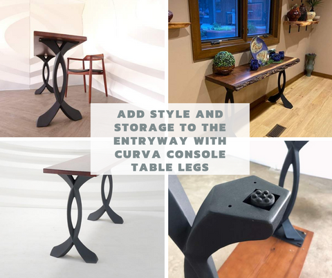 Add Style and Storage to The Entryway with Curva Console Table Legs