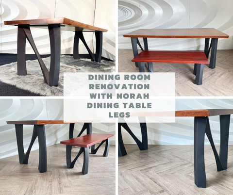 Dining Room Renovation with Norah Dining Table Legs