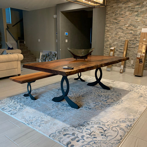 Metal table legs and bench legs set, great for living room, and outdoor furniture