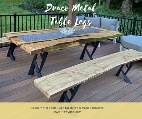 Metal Table Legs for External Use