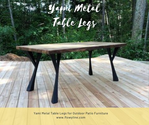 Metal Table Legs for Rectangular Table Tops