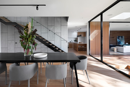 Contemporary style dining room.