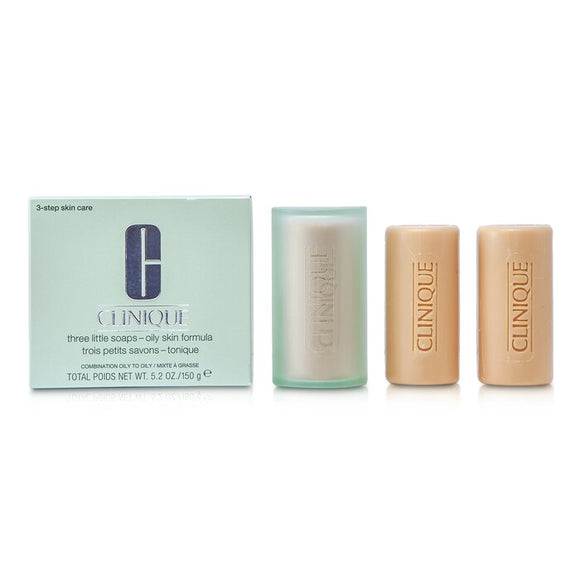Clinique 3 Little Soap - Oily Skin Formula 3x50g