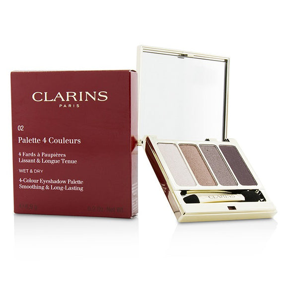 Clarins 4 Colour Eyeshadow Palette (Smoothing & Long Lasting) - No.02 Rosewood 6.9g/0.2oz