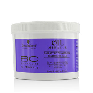 Schwarzkopf BC Bonacure Oil Miracle Barbary Fig Oil & Keratin Restorative Mask (For Very Dry and Brittle Hair) 500ml/16.9oz