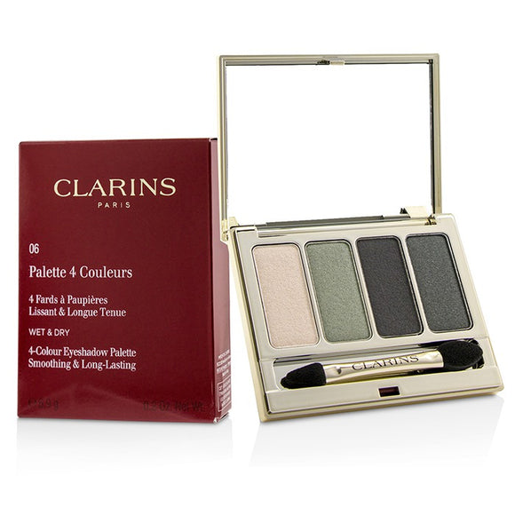 Clarins 4 Colour Eyeshadow Palette (Smoothing & Long Lasting) - No.06 Forest 6.9g/0.2oz