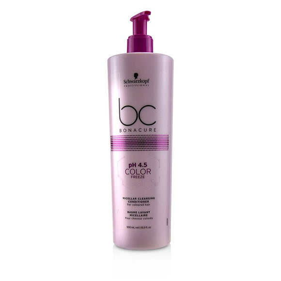 Schwarzkopf BC Bonacure pH 4.5 Color Freeze Micellar Cleansing Conditioner (For Coloured Hair) 500ml/16.9oz