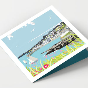 St Mawes Harbour Cornwall Card