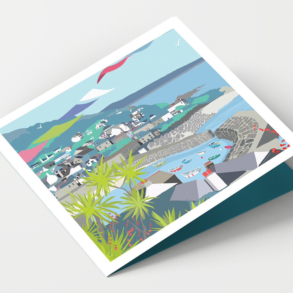 Mousehole Harbour Cornwall Card