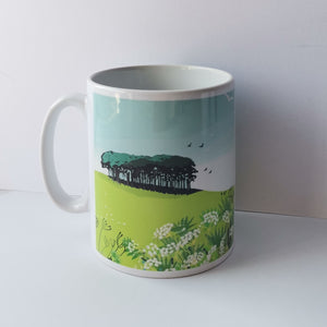 Nearly Home Trees Devon Cornwall Mug