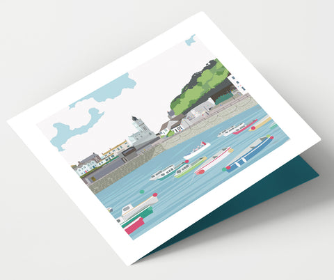 Porthleven Harbour Cornwall Card